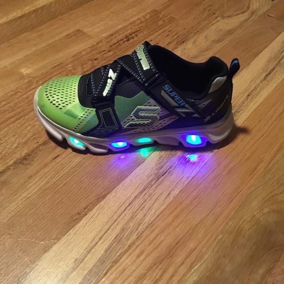 Boys Skechers Super Z Strap Light Up